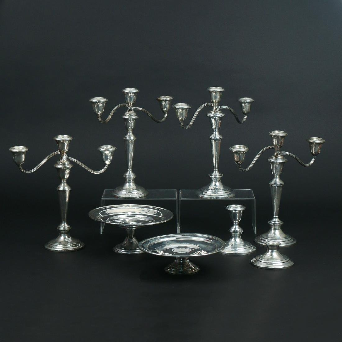 (8pc) WEIGHTED STERLING HOLLOWARE