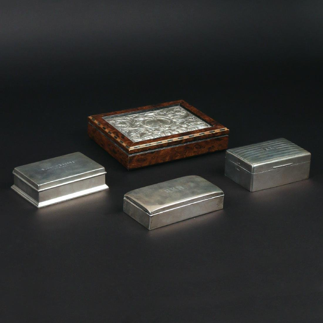 (4pc) SILVER & OTHER BOXES