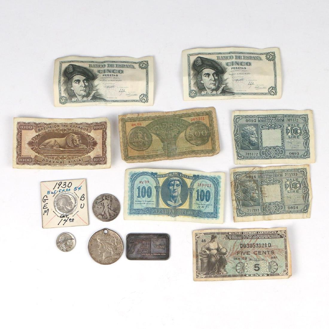 MISC. LOT OF COINS & OTHER