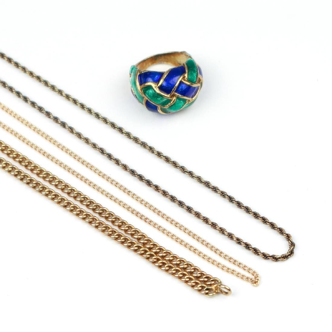 (4pc) 14k GOLD CHAINS & OTHER