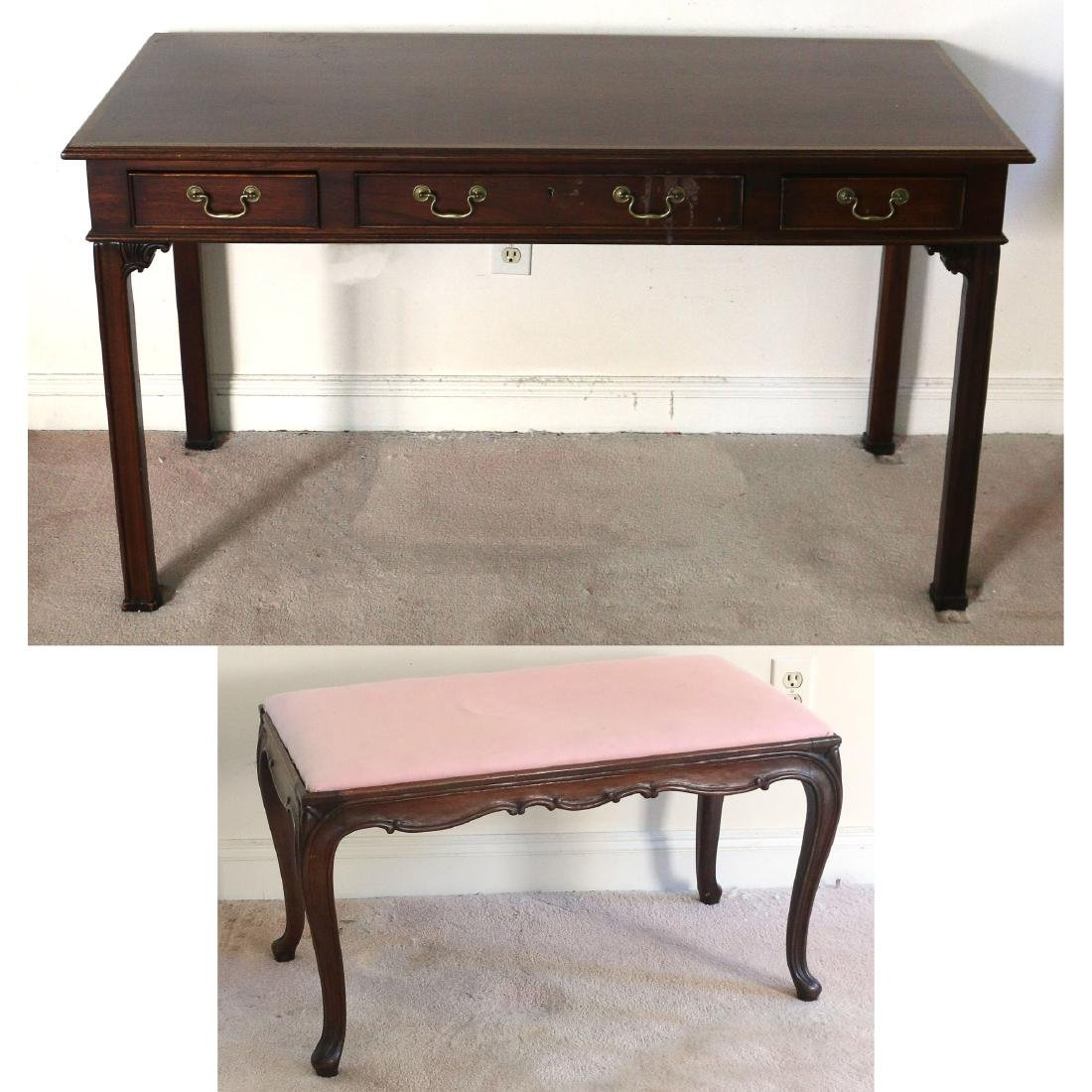 (2pc) DESK AND BENCH