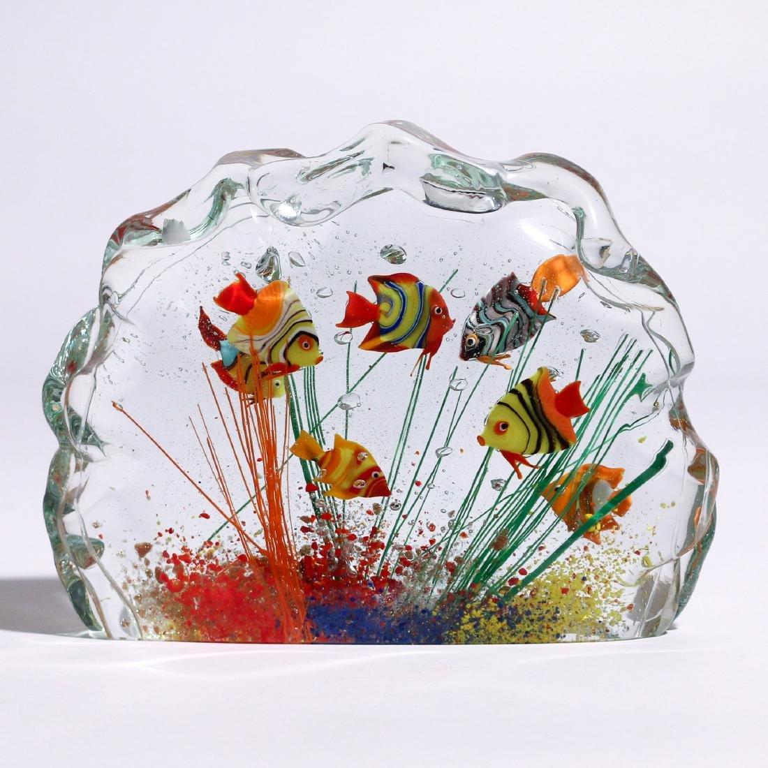 MURANO GLASS FISH AQUARIUM SCULPTURE