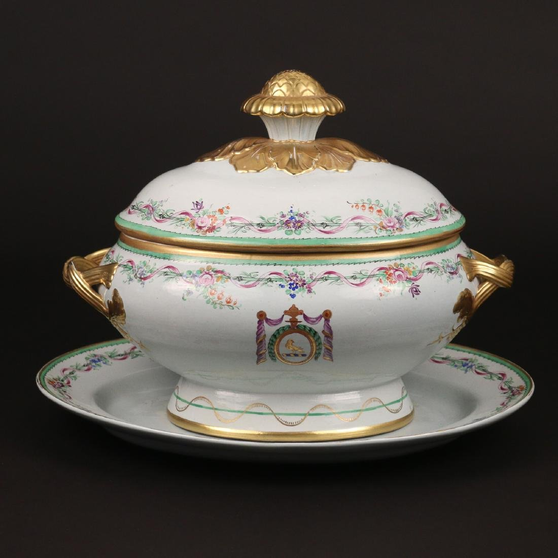 MOTTAHEDEH COVERED TUREEN & UNDERPLATE