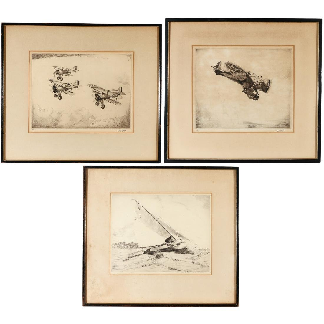 (3pc) MISC. AMERICAN ETCHINGS