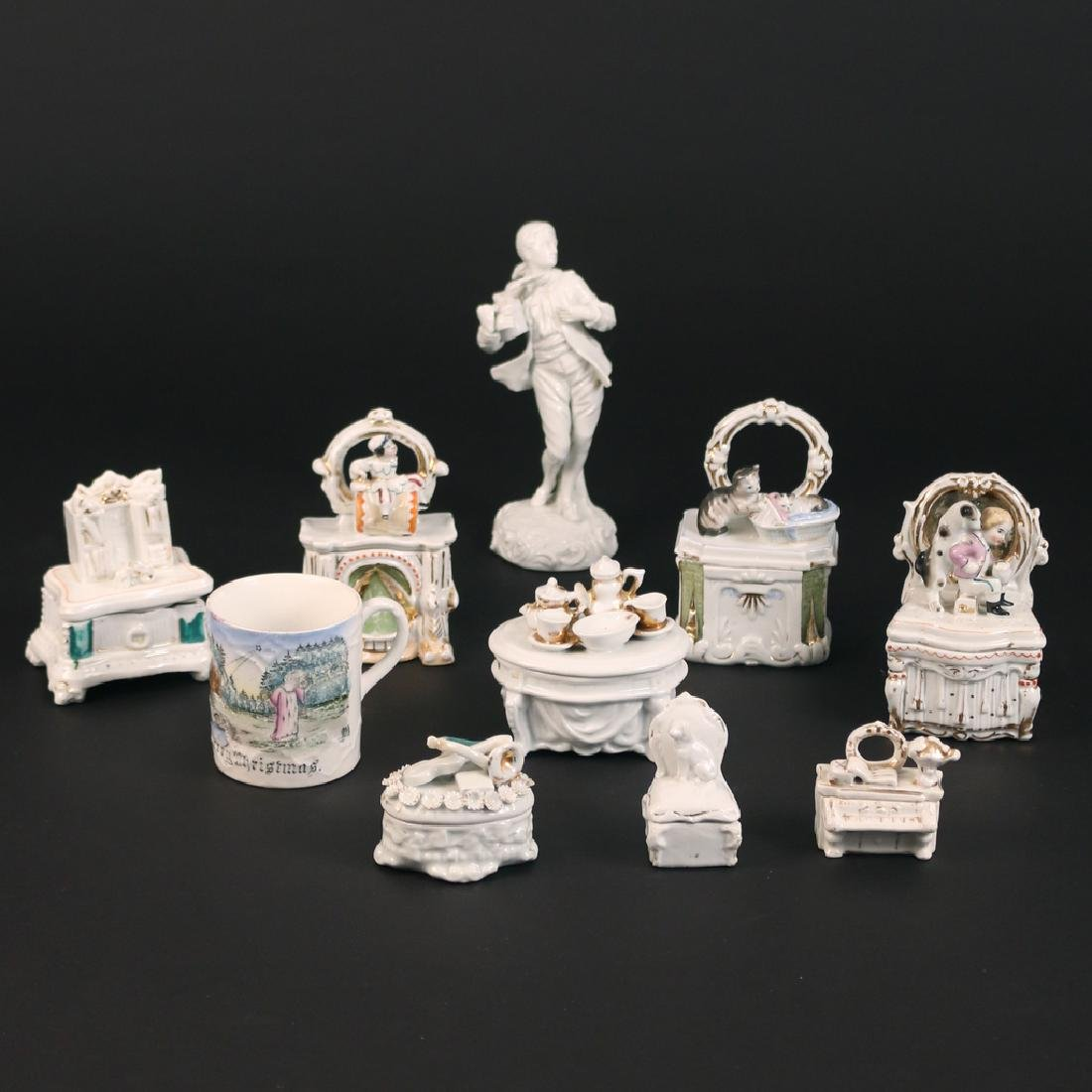 (10pc) MISC. OLD FRENCH AND OTHER PORCELAIN