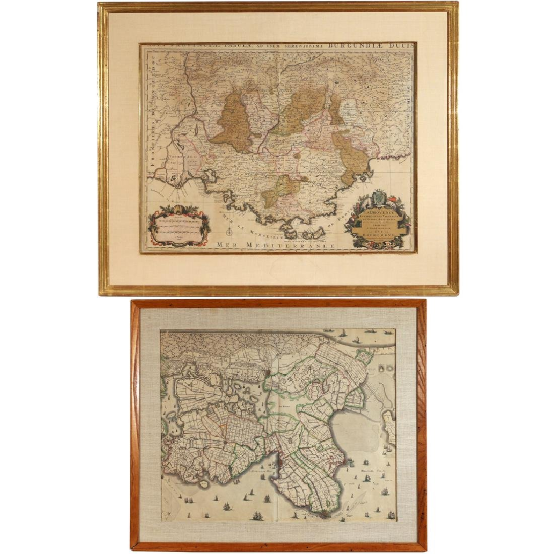 (2pc) MAPS OF FRANCE & HOLLAND