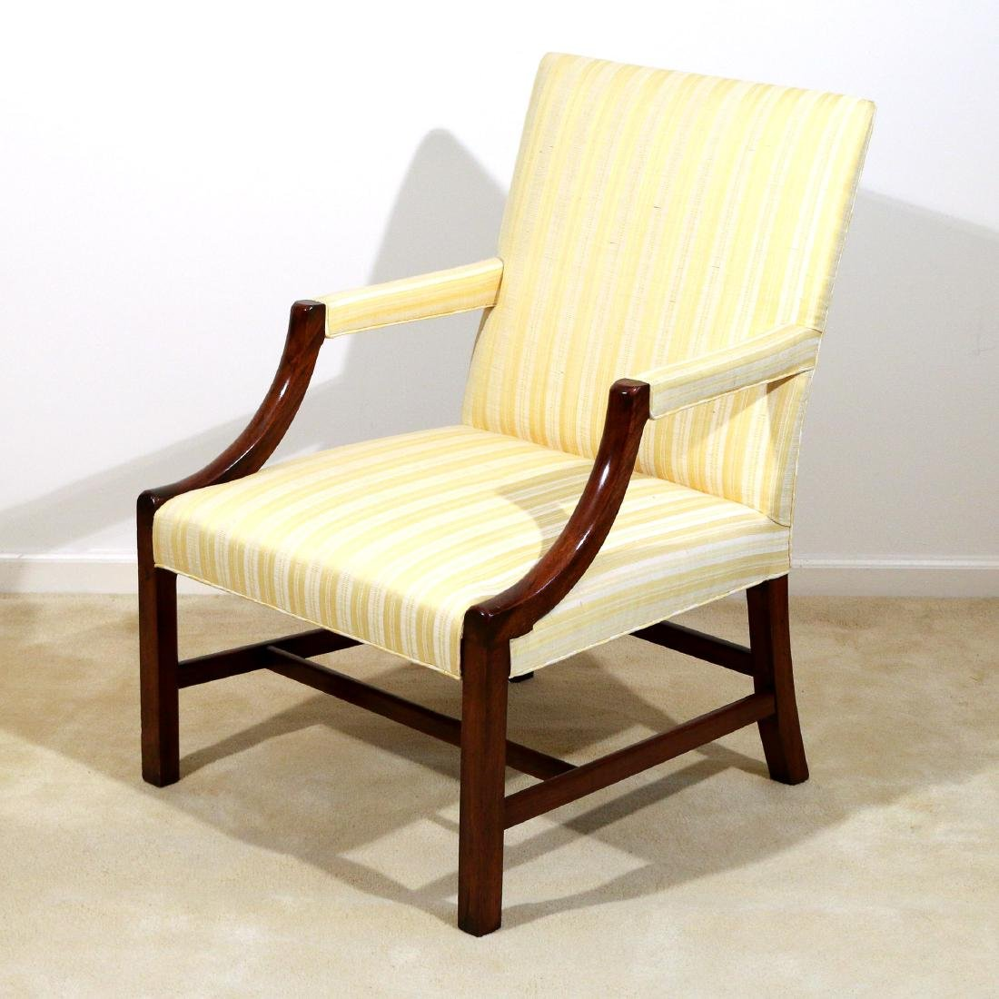 ANTIQUE MAHOGANY LOLLING CHAIR