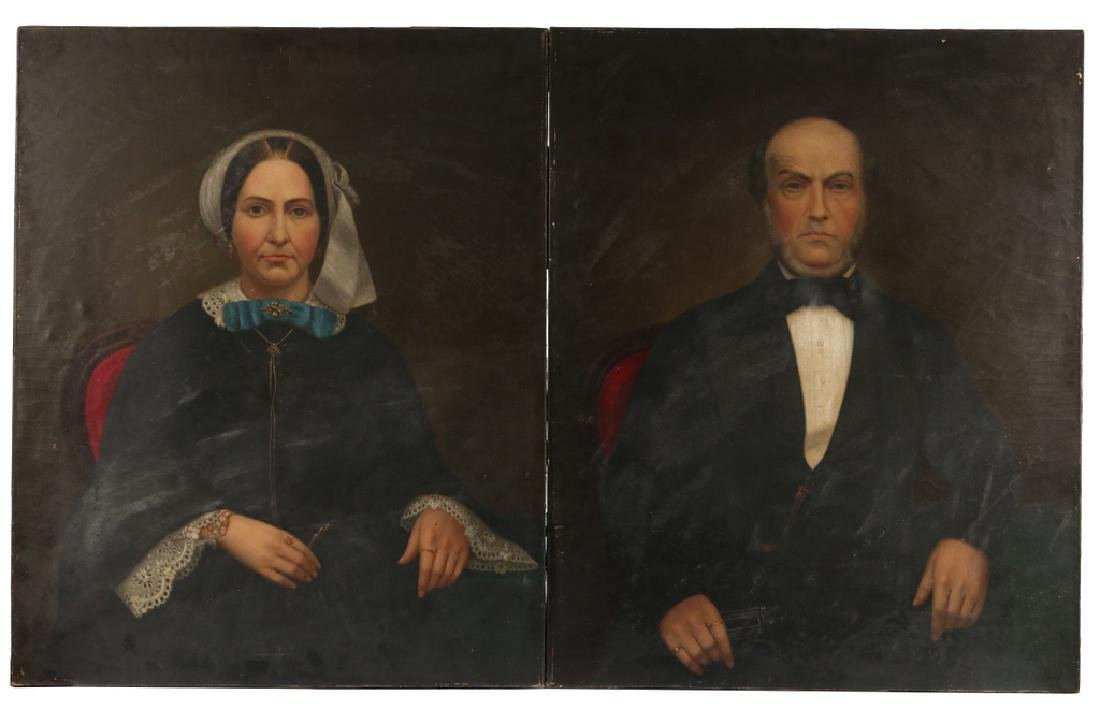 PAIR AMERICAN SCHOOL PORTRAITS