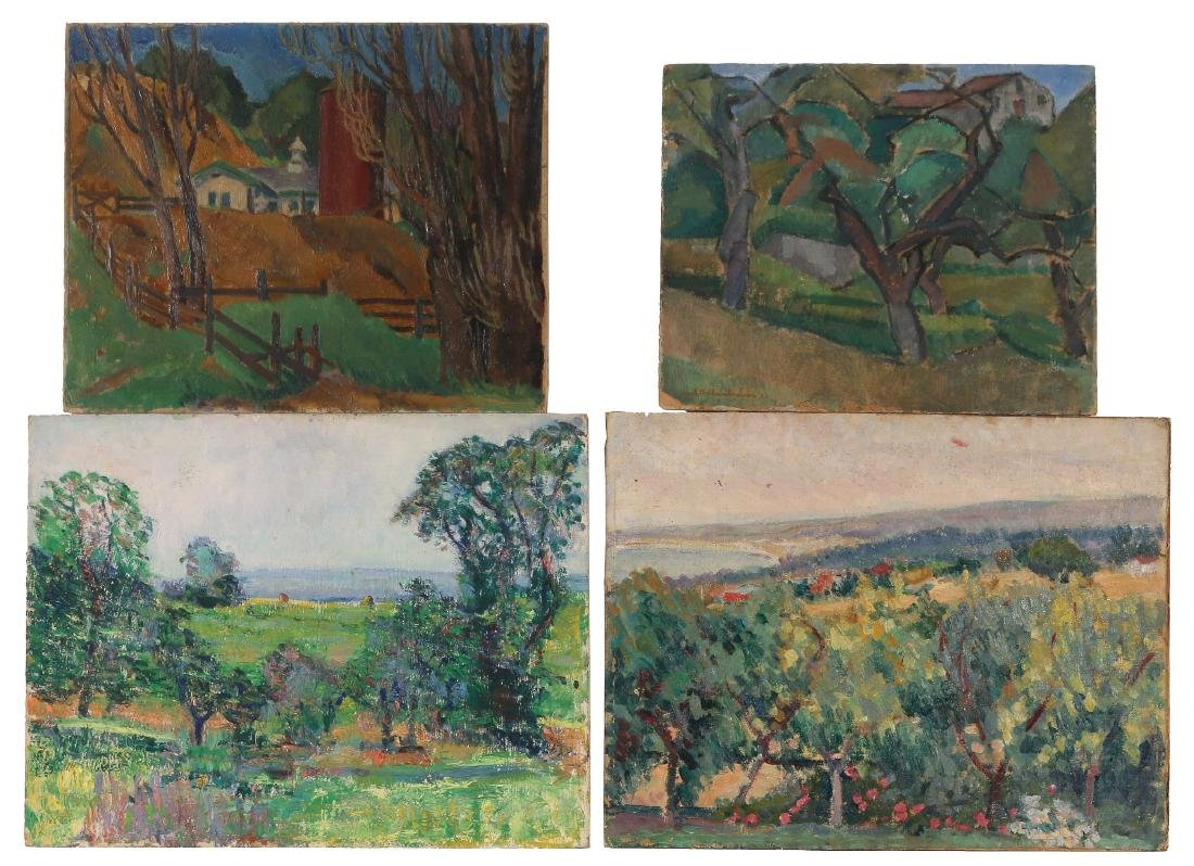 (4pc) EARLY CALIFORNIA & OTHER LANDSCAPE PAINTINGS