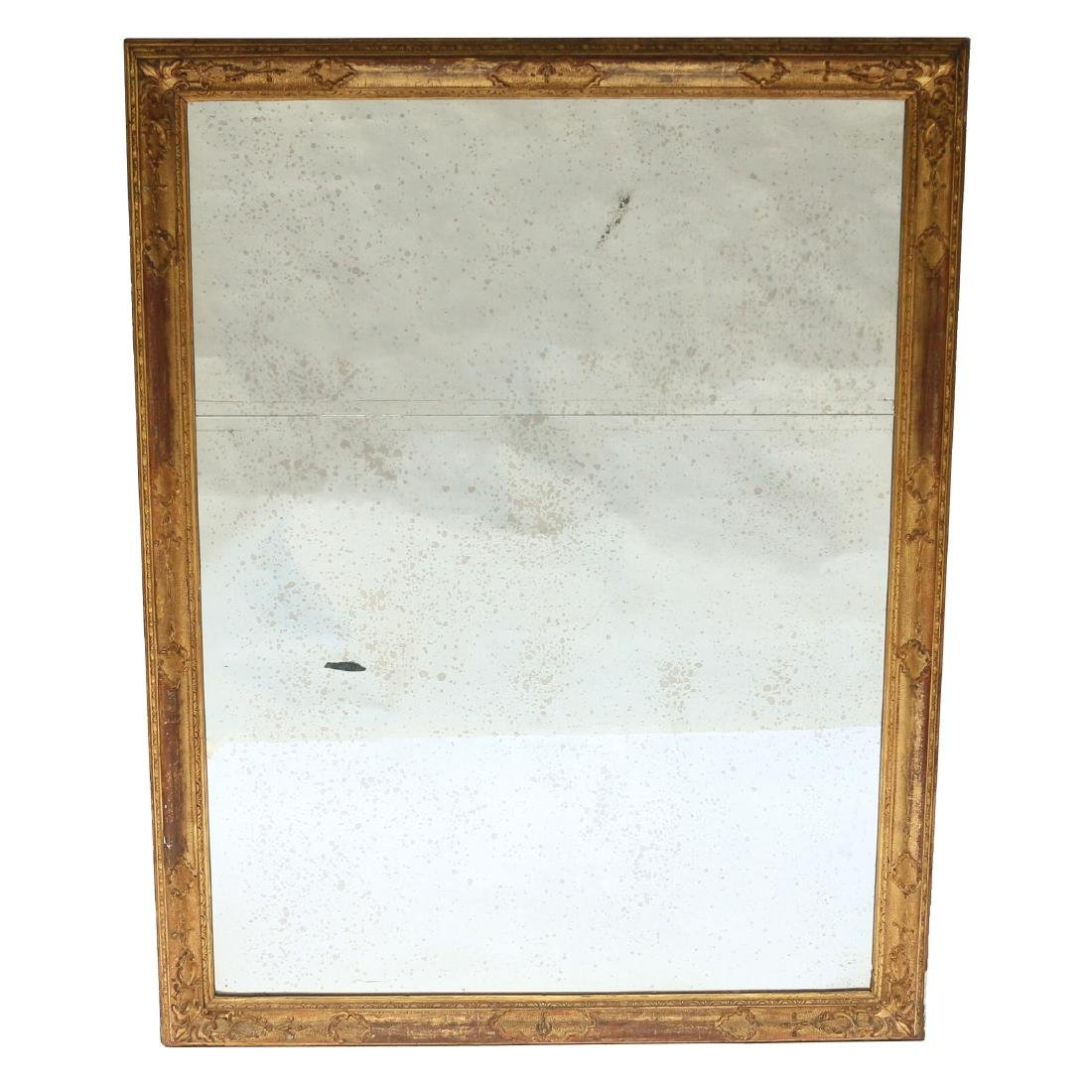 18TH C. GILT CARVED WALL MIRROR