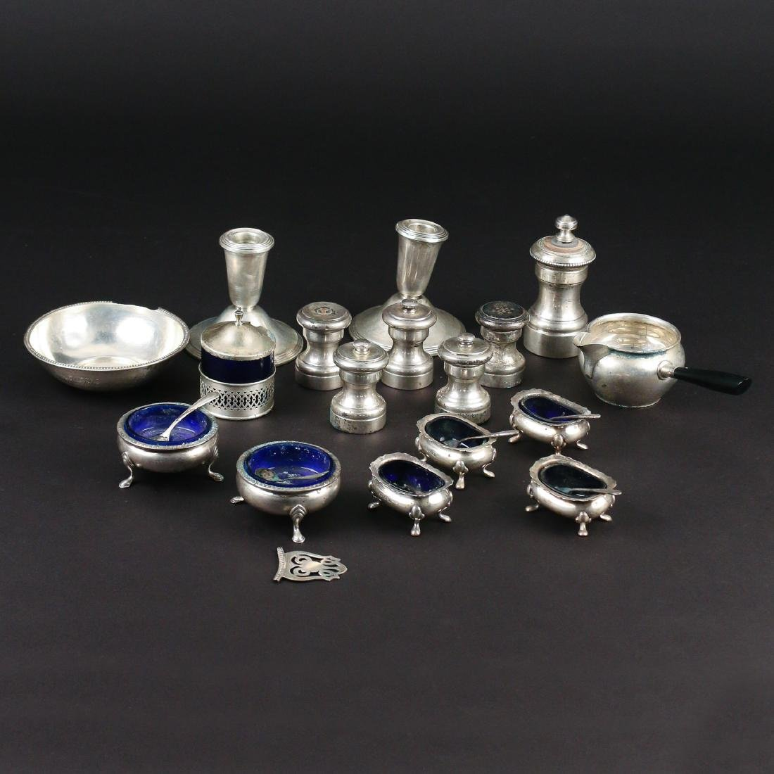 (17pc) MISC. WEIGHTED & OTHER SILVER