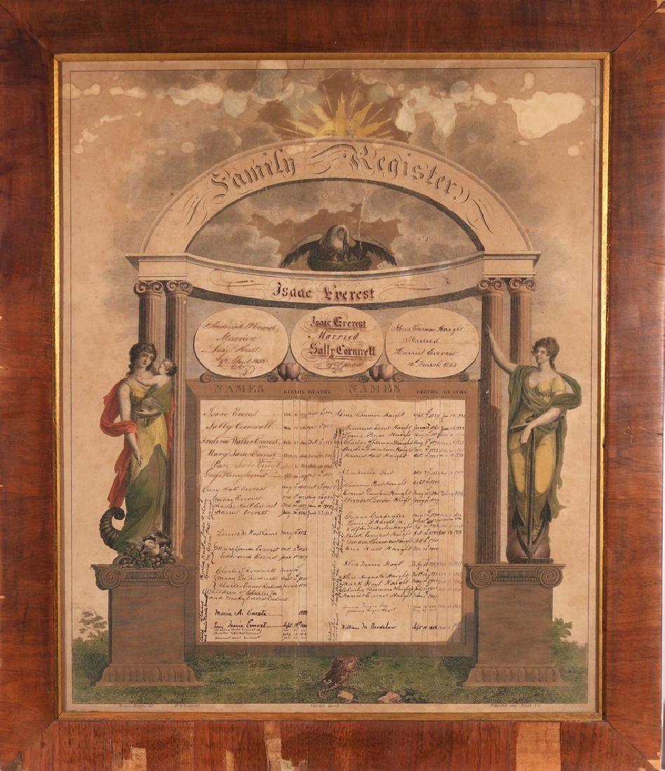 E.19THC. AMERICAN FRAKTUR FAMILY REGISTER