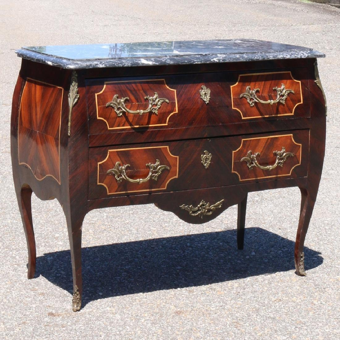 LOUIS XV-STYLE BOMBE COMMODE