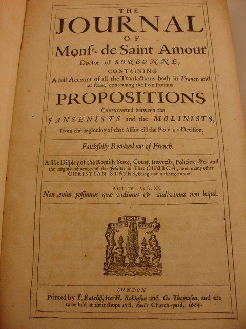 466: BOOK: JOURNAL OF MONF DE SAINT AMOUR FRO