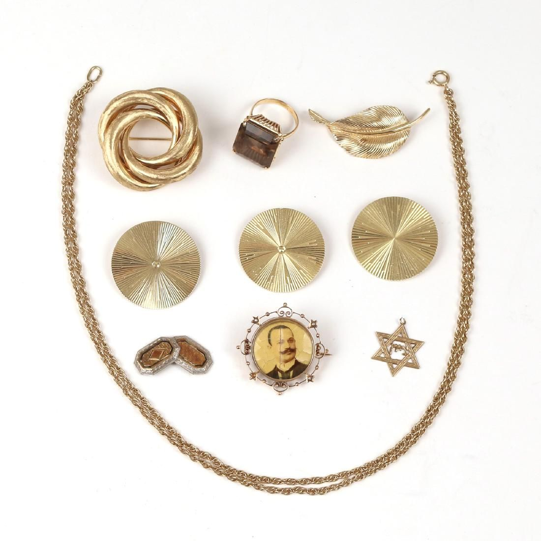 (10pc) MISC. GOLD JEWELRY
