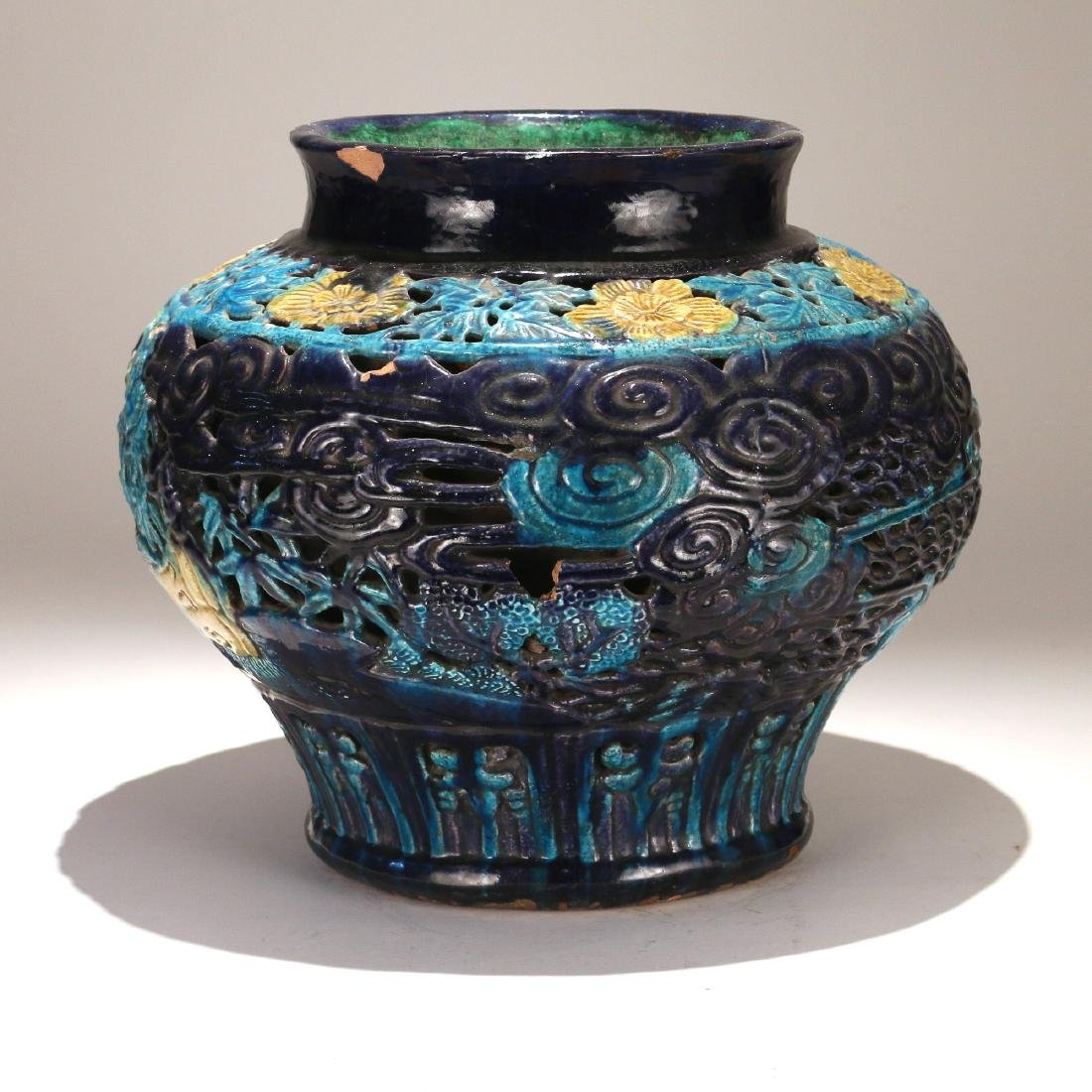 CHINESE MING FAHUA DOUBLE-WALLED JAR - 2