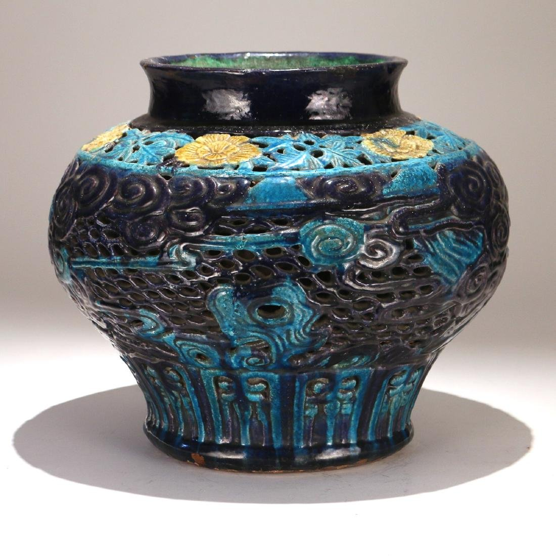 CHINESE MING FAHUA DOUBLE-WALLED JAR - 3