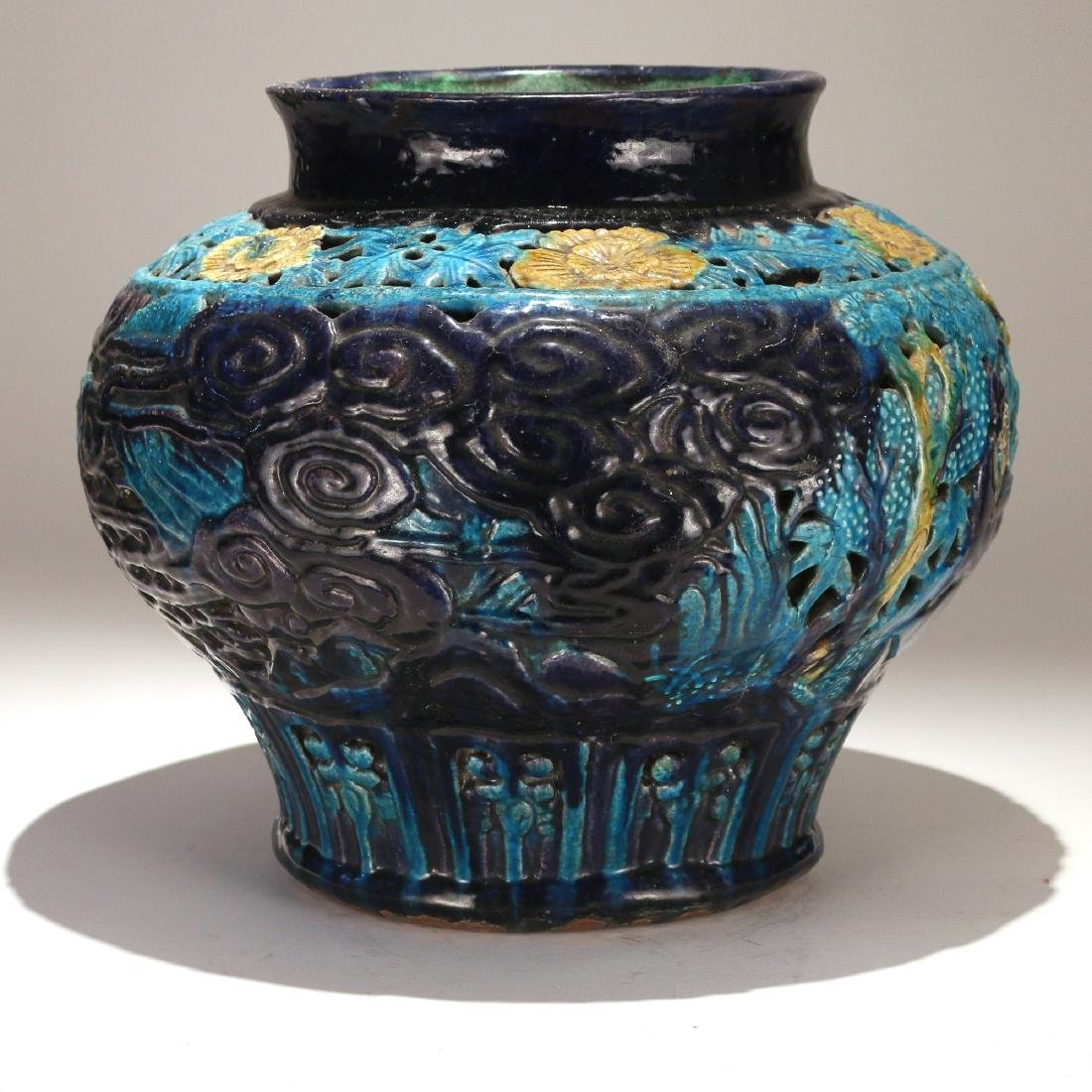 CHINESE MING FAHUA DOUBLE-WALLED JAR - 4