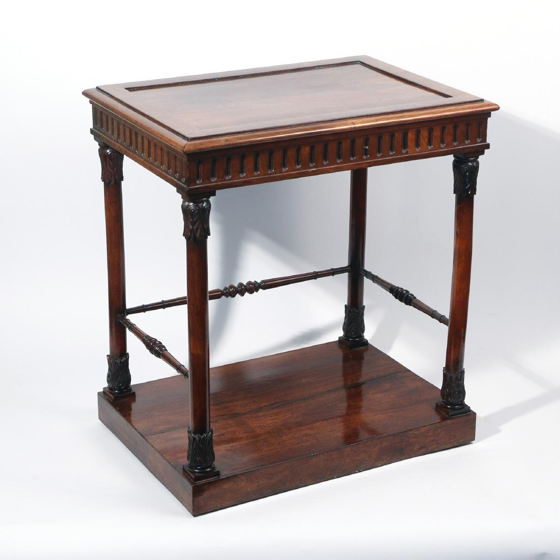 ENGLISH REGENCY ROSEWOOD SIDE TABLE