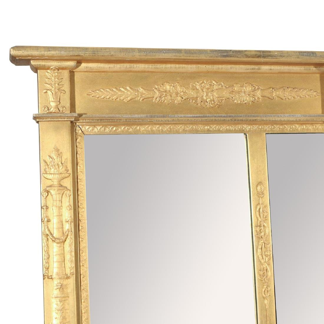 CLASSICAL STYLE GILT OVER-MANTLE MIRROR - 2