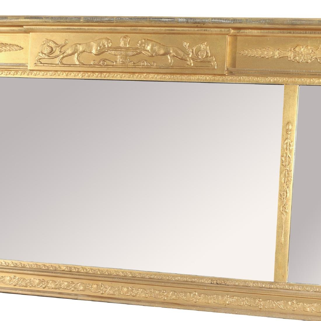 CLASSICAL STYLE GILT OVER-MANTLE MIRROR - 3