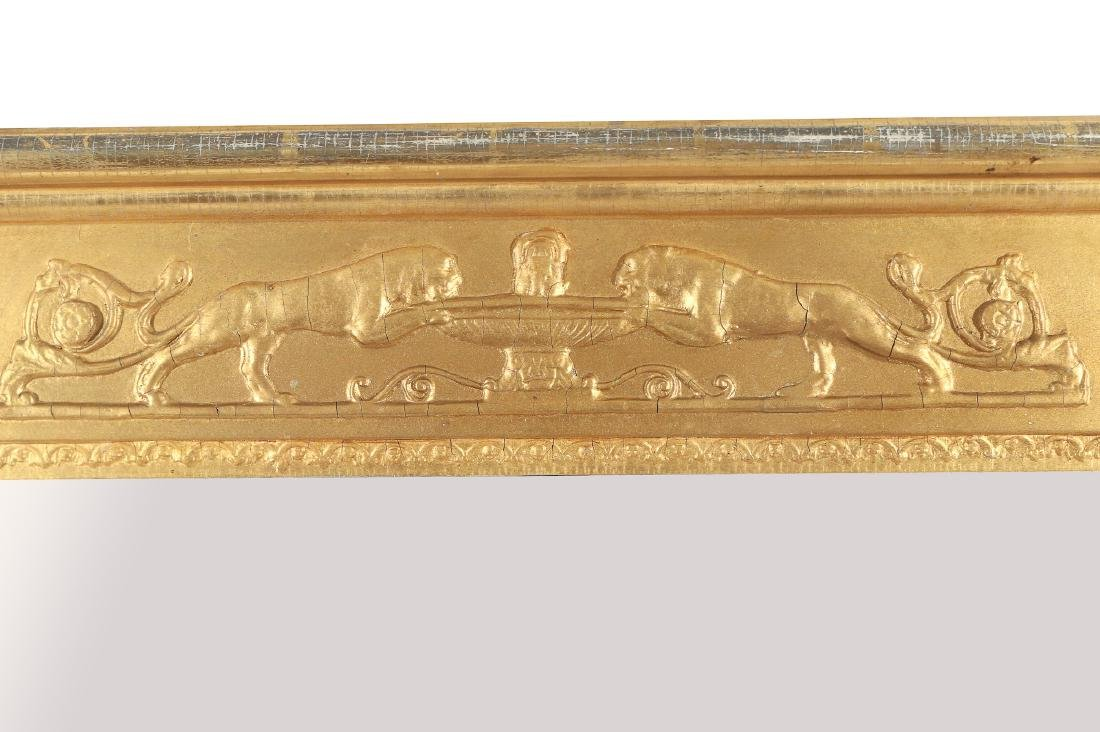 CLASSICAL STYLE GILT OVER-MANTLE MIRROR - 4
