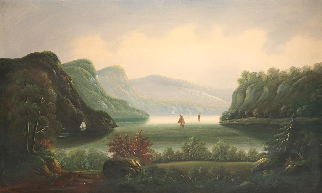 HUDSON RIVER SCHOOL LANDSCAPE, 19th Century