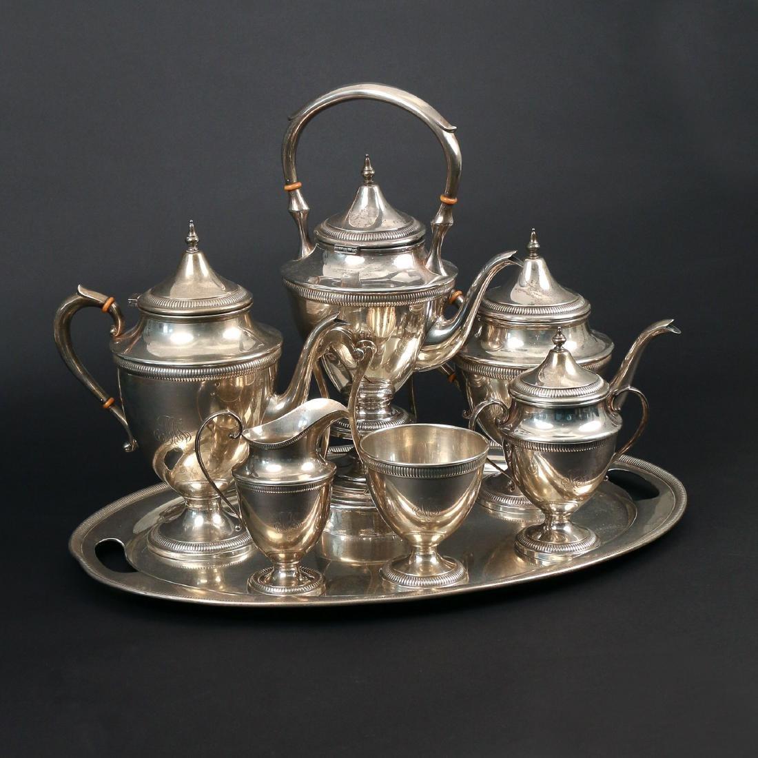(7pc) STERLING SILVER TEA & COFFEE SERVICE