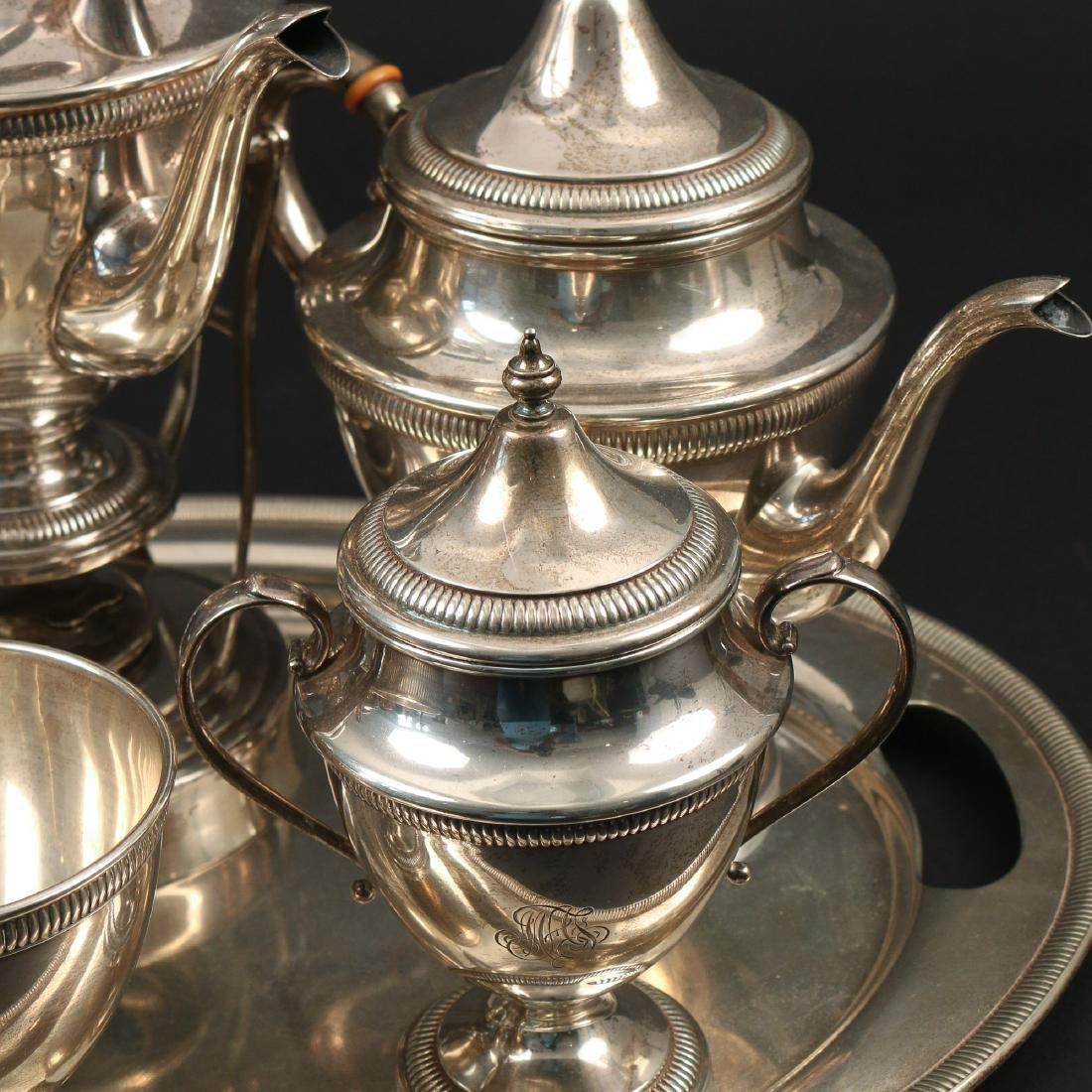 (7pc) STERLING SILVER TEA & COFFEE SERVICE - 2