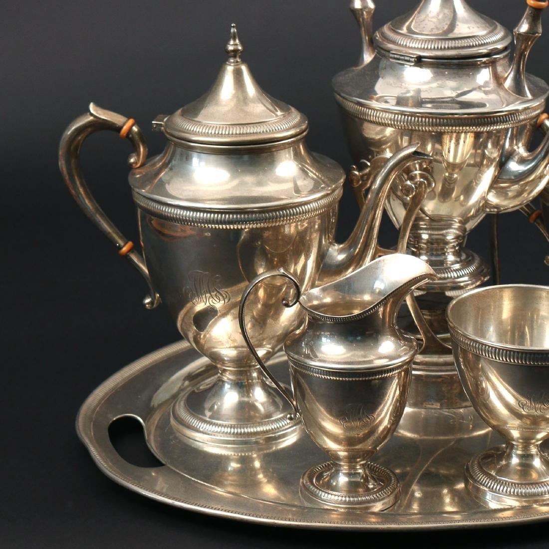 (7pc) STERLING SILVER TEA & COFFEE SERVICE - 3