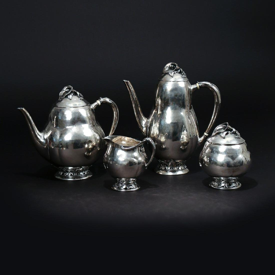 (4pc) PEER SMED SILVER TEA & COFFEE SERVICE