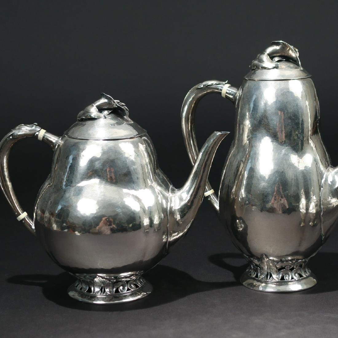 (4pc) PEER SMED SILVER TEA & COFFEE SERVICE - 5
