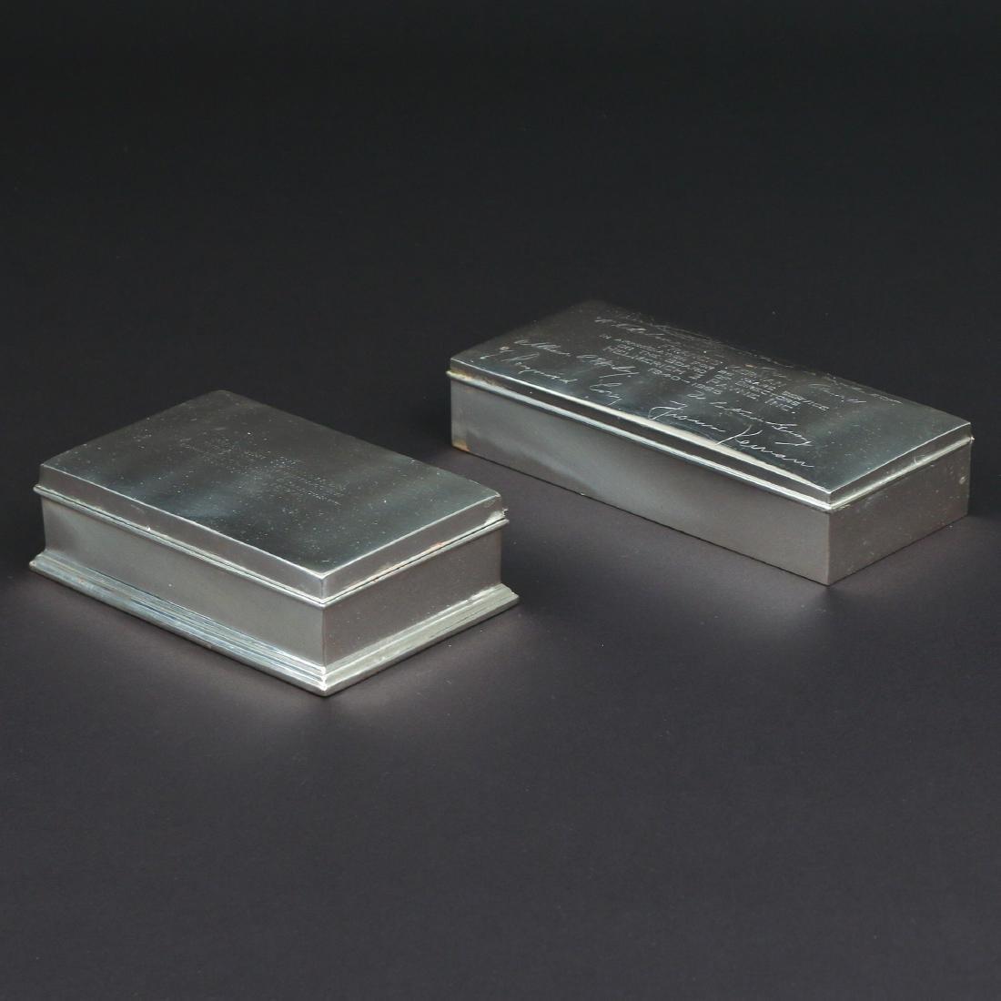 (2pc) STERLING SILVER CIGARETTE BOXES