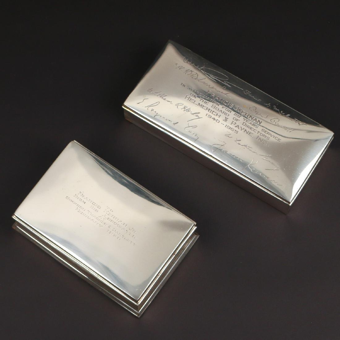 (2pc) STERLING SILVER CIGARETTE BOXES - 2