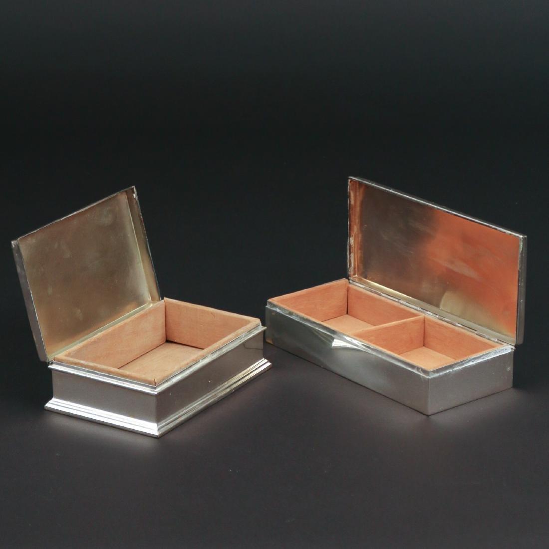 (2pc) STERLING SILVER CIGARETTE BOXES - 3