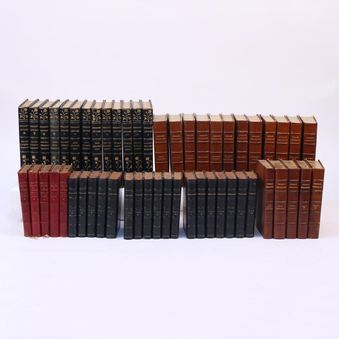 (53vol) [BINDINGS] MISC. LEATHER-BOUND BOOKS