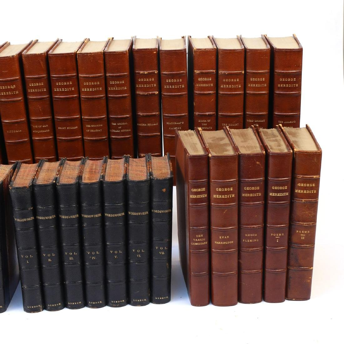 (53vol) [BINDINGS] MISC. LEATHER-BOUND BOOKS - 3