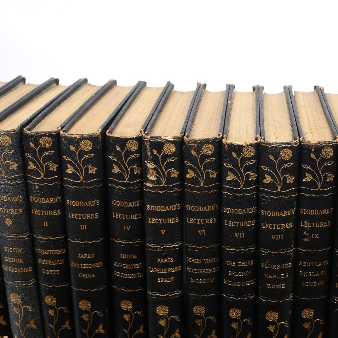 (53vol) [BINDINGS] MISC. LEATHER-BOUND BOOKS - 8