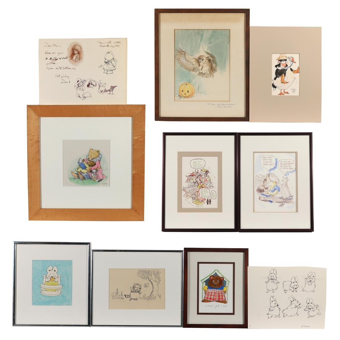 (10pc) ORIGINAL CHILDREN'S ILLUSTRATION ART
