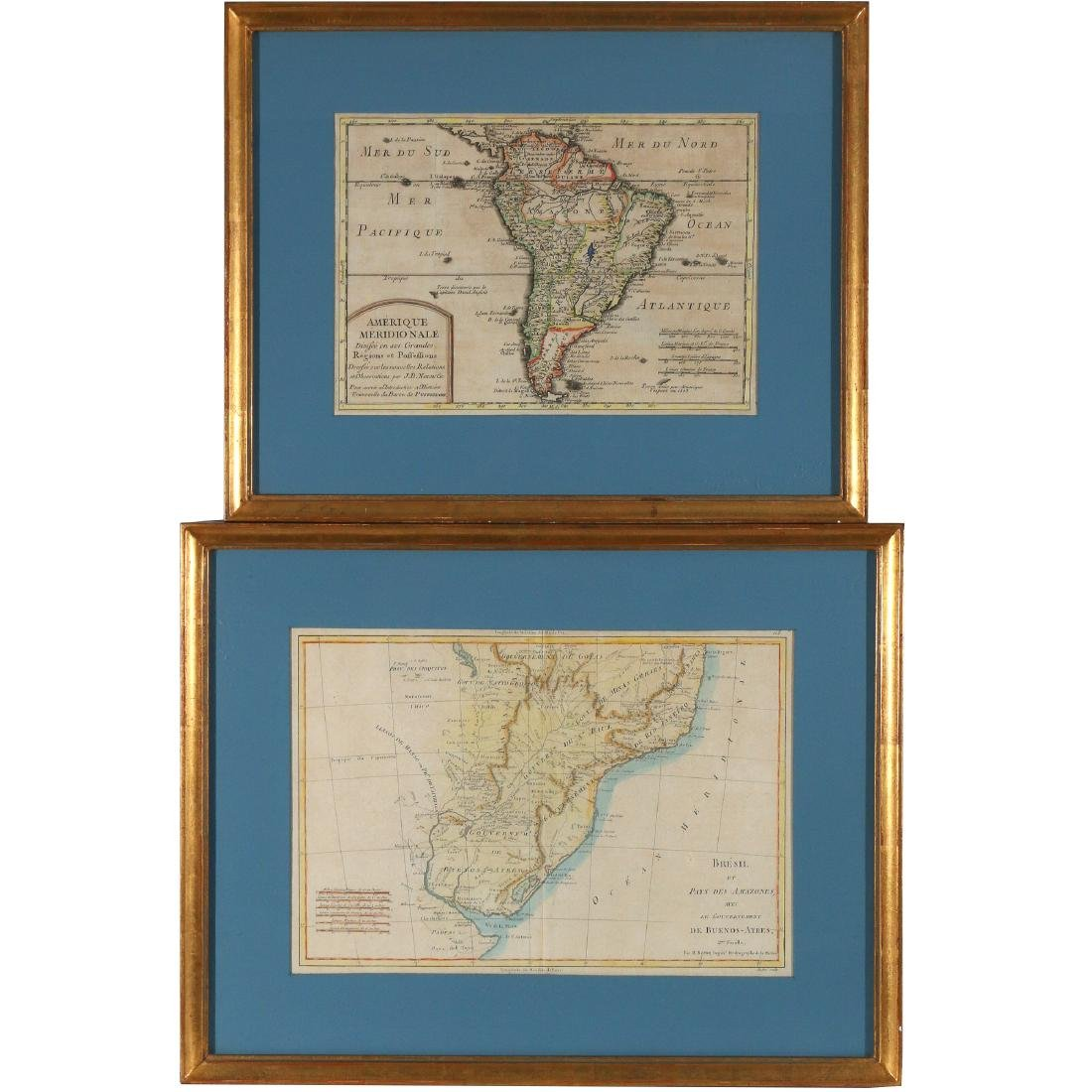(2pc) ANTIQUE MAPS OF SOUTH AMERICA
