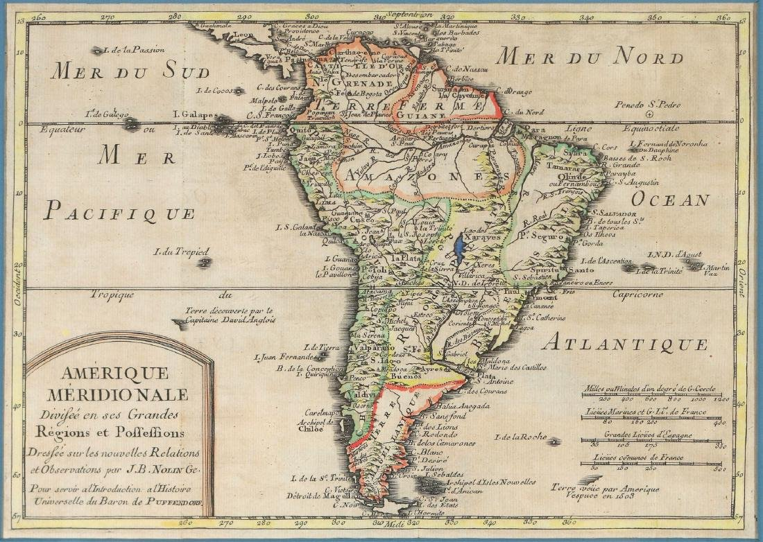 (2pc) ANTIQUE MAPS OF SOUTH AMERICA - 2