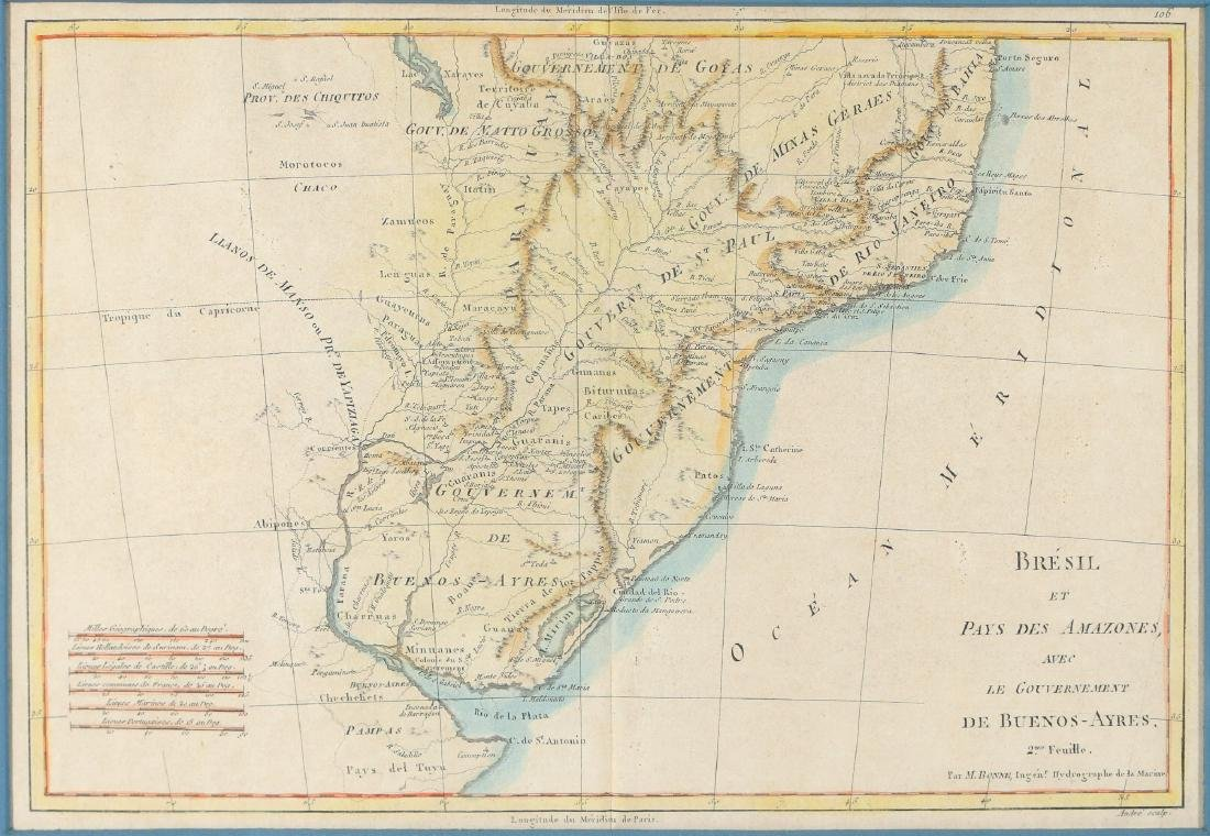 (2pc) ANTIQUE MAPS OF SOUTH AMERICA - 3