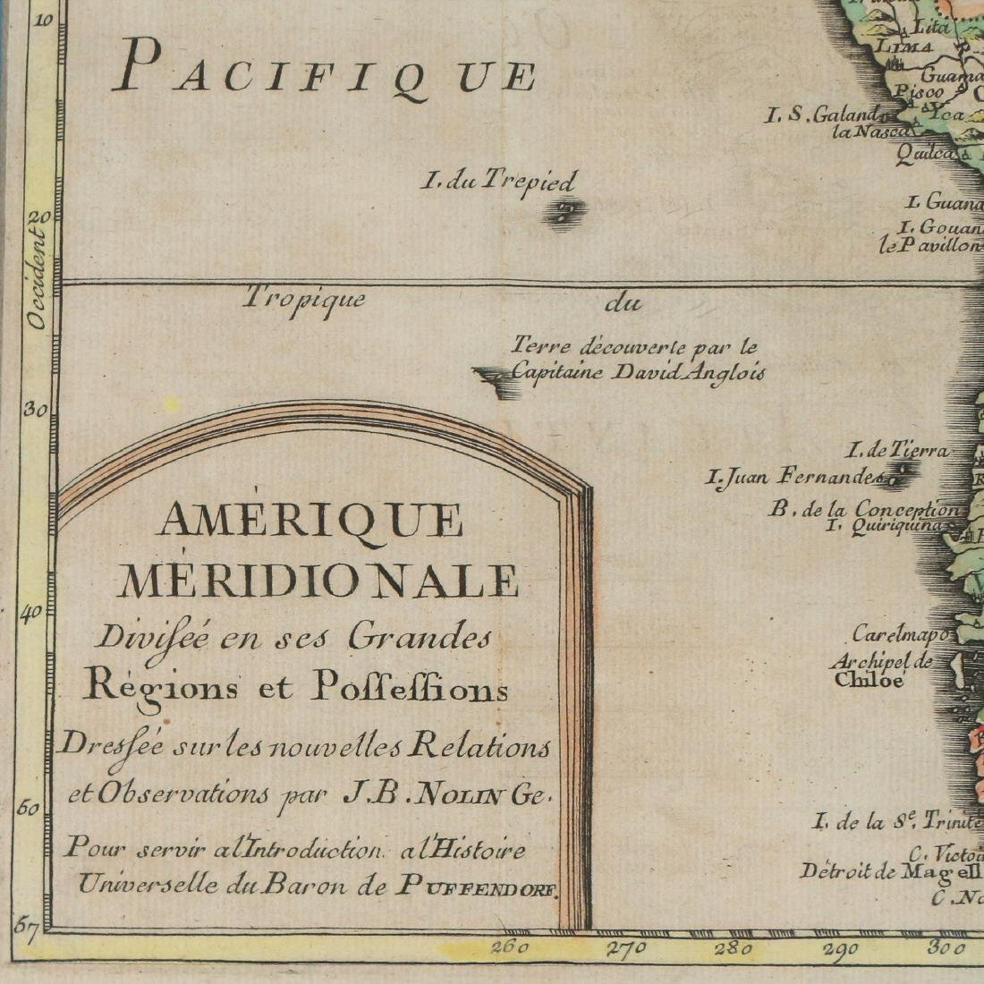 (2pc) ANTIQUE MAPS OF SOUTH AMERICA - 5