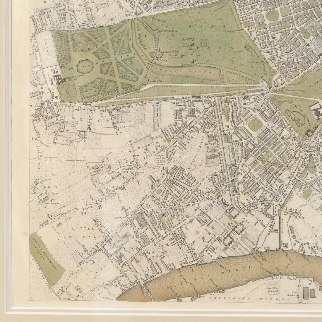 LARGE MAP OF LONDON, 1843 - 6
