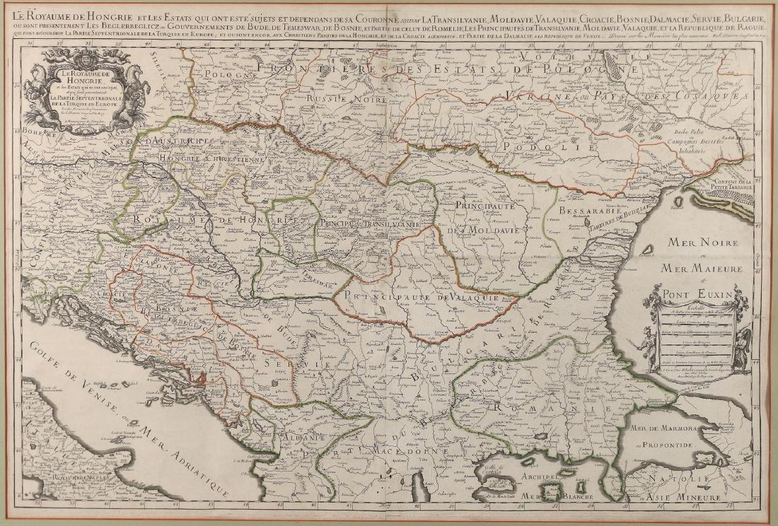 [JAILLOT] MAP OF HUNGARY & SURROUNDINGS