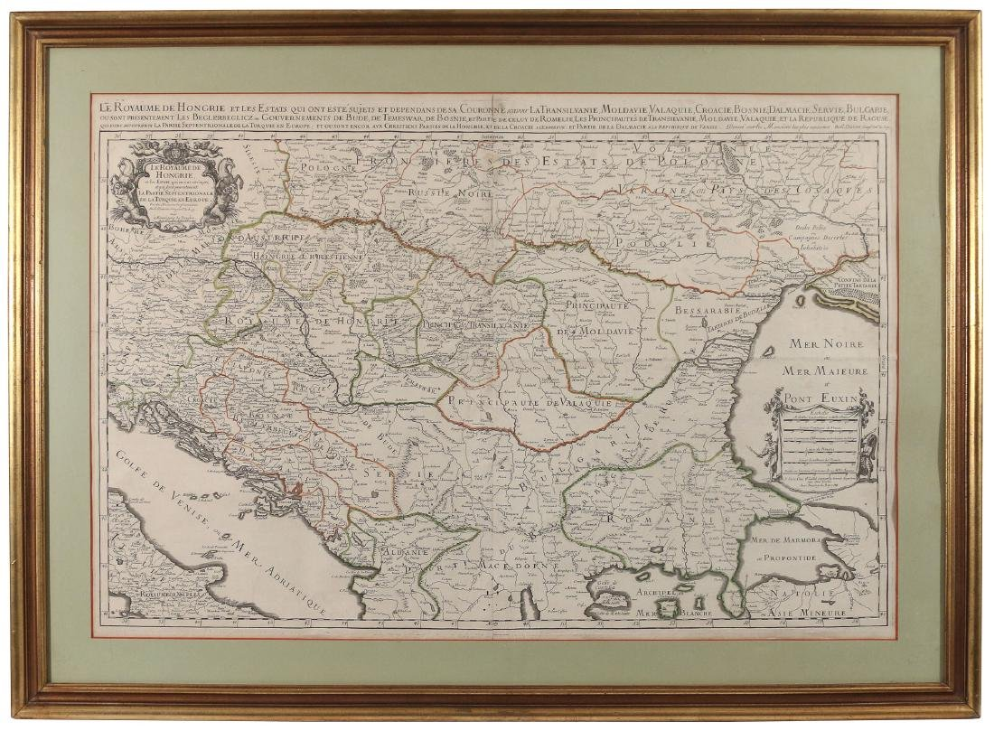 [JAILLOT] MAP OF HUNGARY & SURROUNDINGS - 2