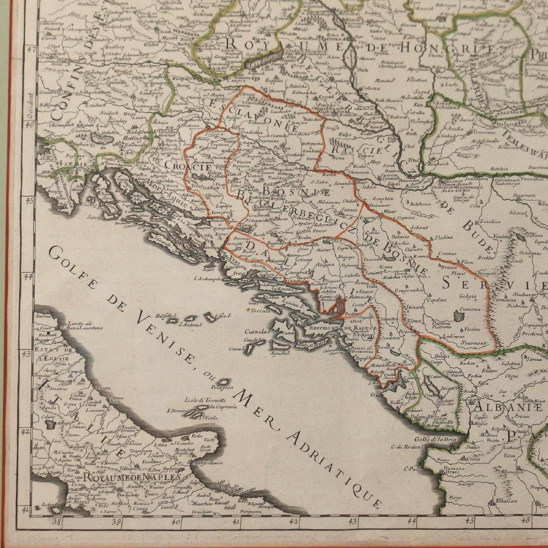 [JAILLOT] MAP OF HUNGARY & SURROUNDINGS - 6