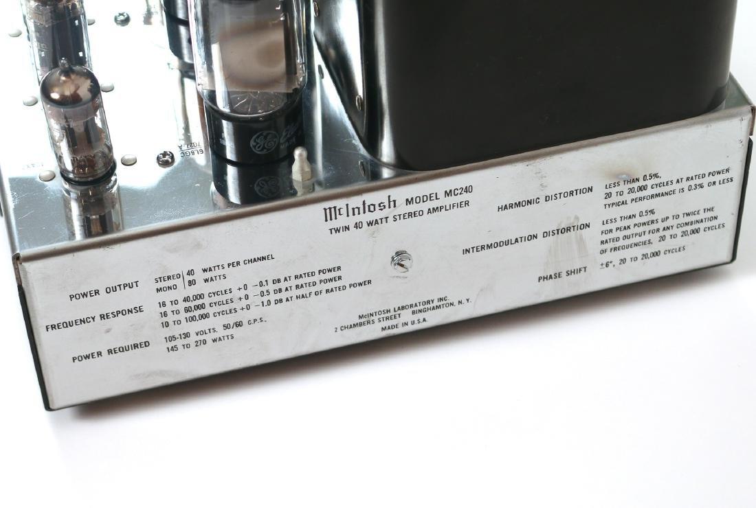 McINTOSH MODEL MC240 STEREO AMPLIFIER - 5