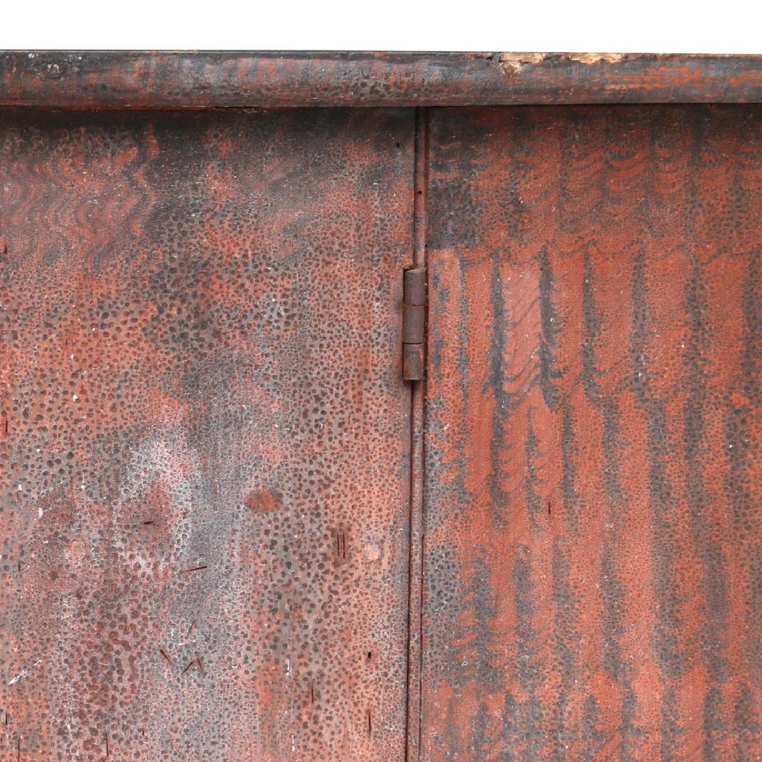 AMERICAN GRAIN-PAINTED WALL CUPBOARD - 2