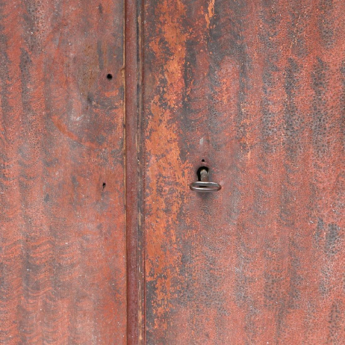 AMERICAN GRAIN-PAINTED WALL CUPBOARD - 5